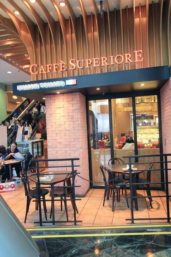 Restaurante del superiore de Caffe en Hong-Kong foto de archivo