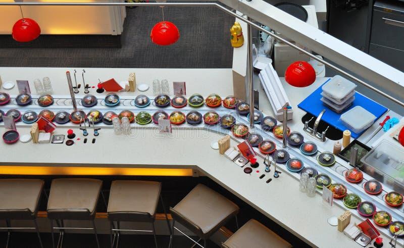 Restaurante del sushi fotografía de archivo