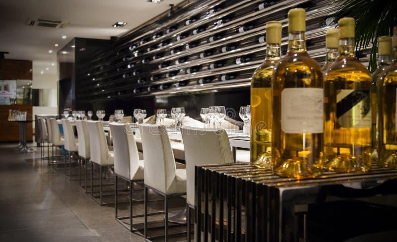 Restaurante del vino imágenes de archivo libres de regalías