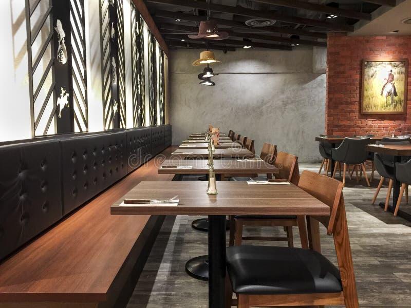 Restaurante do café foto de stock
