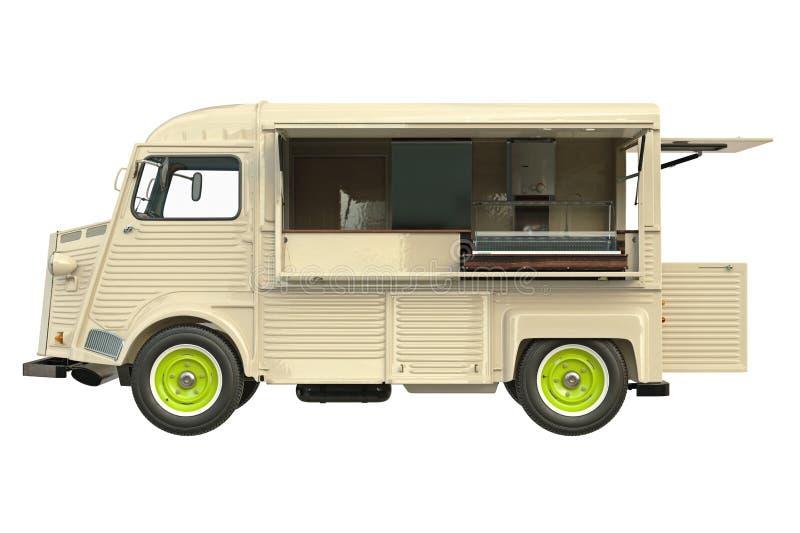 Restaurante do caminhão do alimento, vista lateral ilustração royalty free