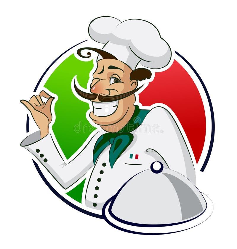 Restaurante do cozinheiro ilustração stock