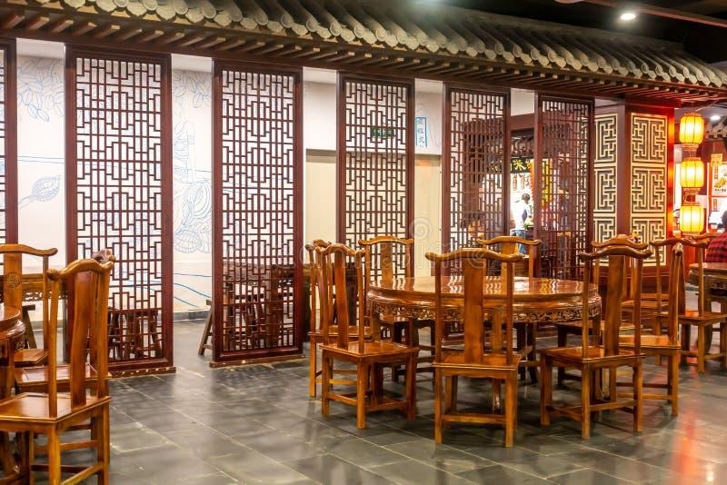 Restaurante do estilo chinês fotos de stock