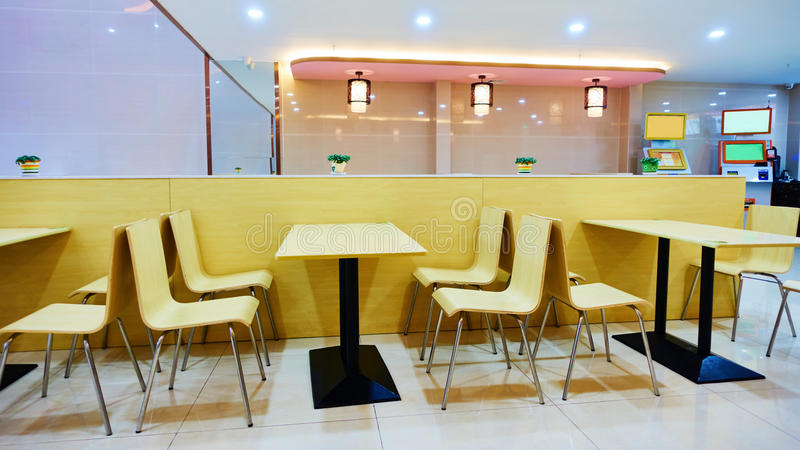 Restaurante do fast food foto de stock