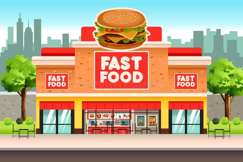 Restaurante do fast food ilustração royalty free