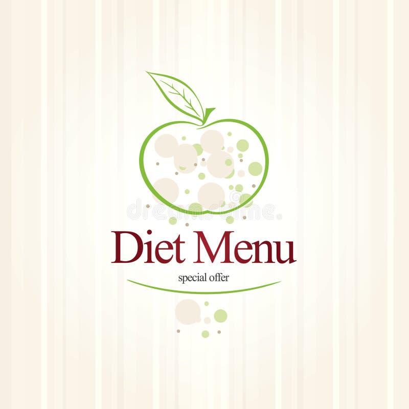 Restaurante do menu da dieta ilustração royalty free