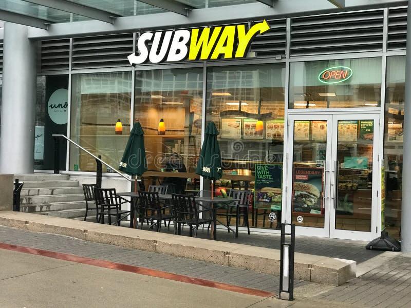 Restaurante do metro, Vancôver, BC foto de stock royalty free