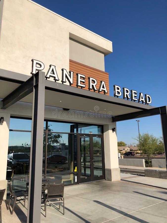 Restaurante do pão de Panera imagens de stock