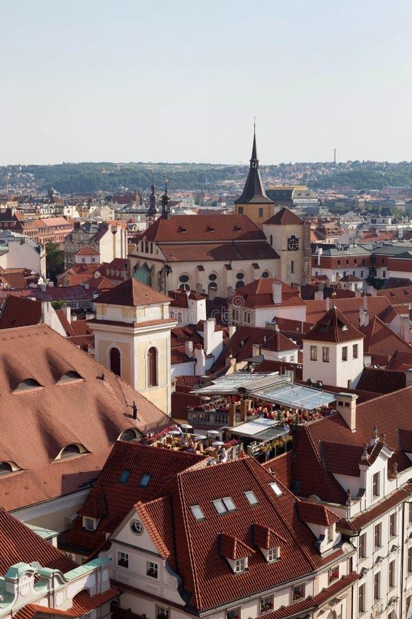 Telhados de Praga foto de stock royalty free