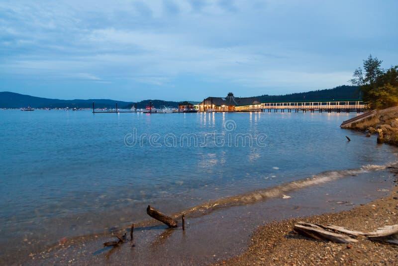 Restaurante dos cedros no ` Alene de Coeur d do lago foto de stock royalty free