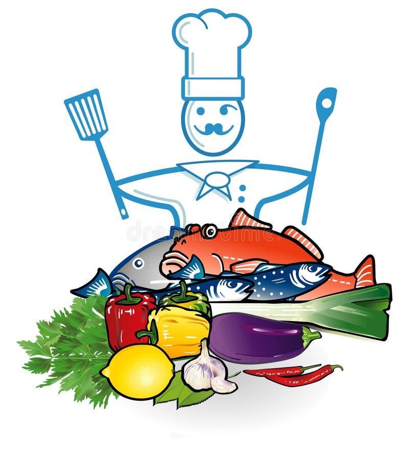 Restaurante dos peixes ilustração royalty free
