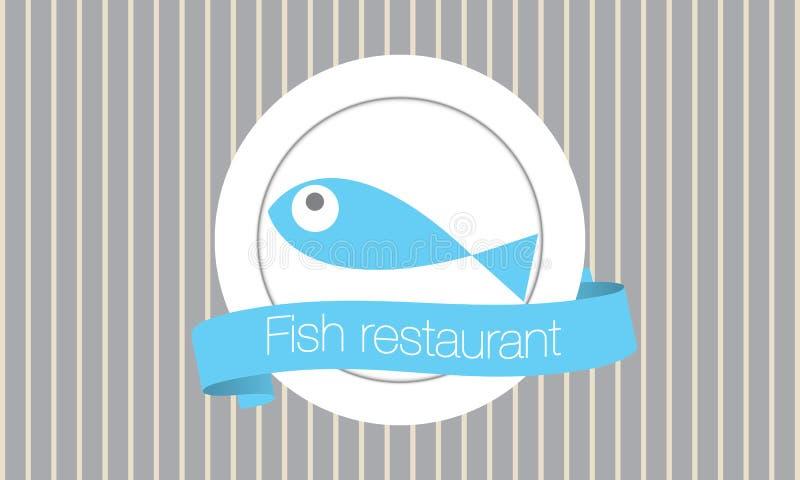 Restaurante dos peixes ilustração stock