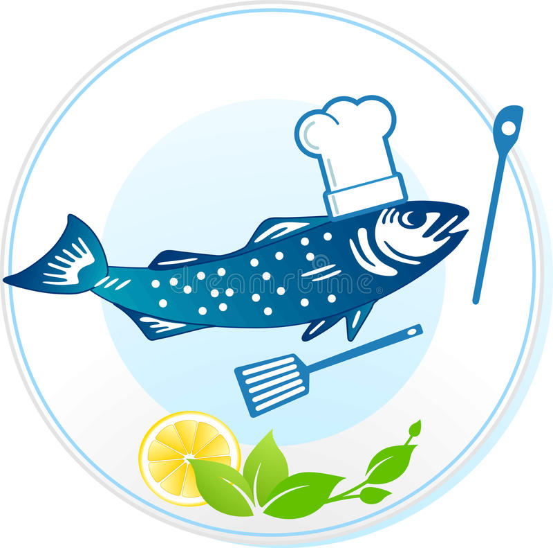 Restaurante dos peixes e do marisco ilustração do vetor