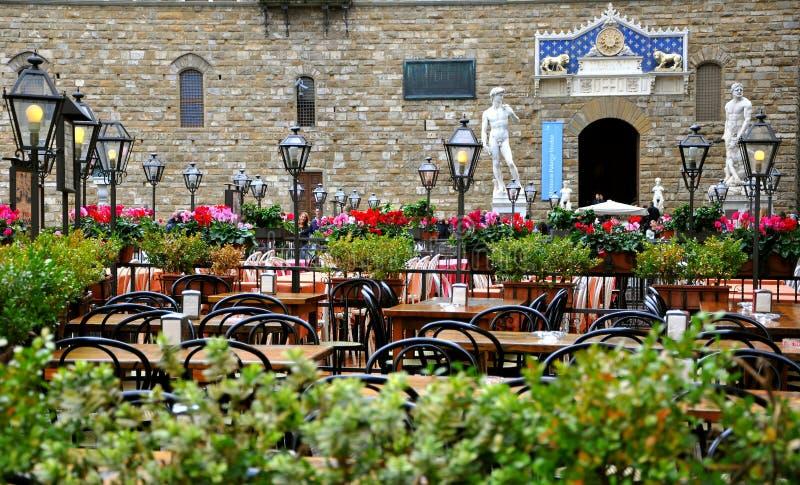Restaurante em Italy foto de stock