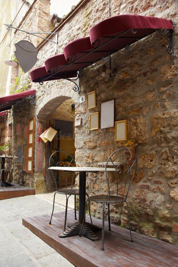 Restaurante em Italy, Toscânia imagem de stock royalty free