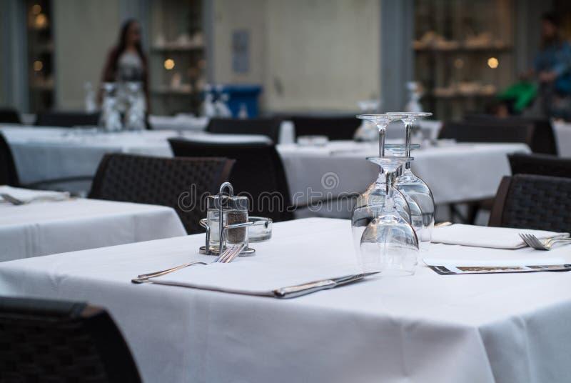 Restaurante em Lecco imagem de stock royalty free