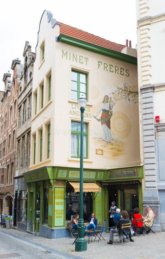 Restaurante en Bruselas imagen de archivo libre de regalías