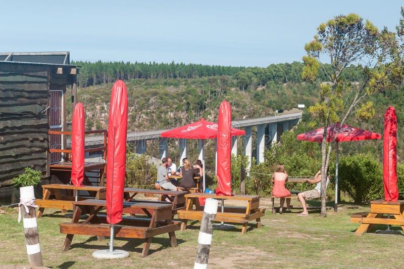 Restaurante en el puente de Bloukrans foto de archivo