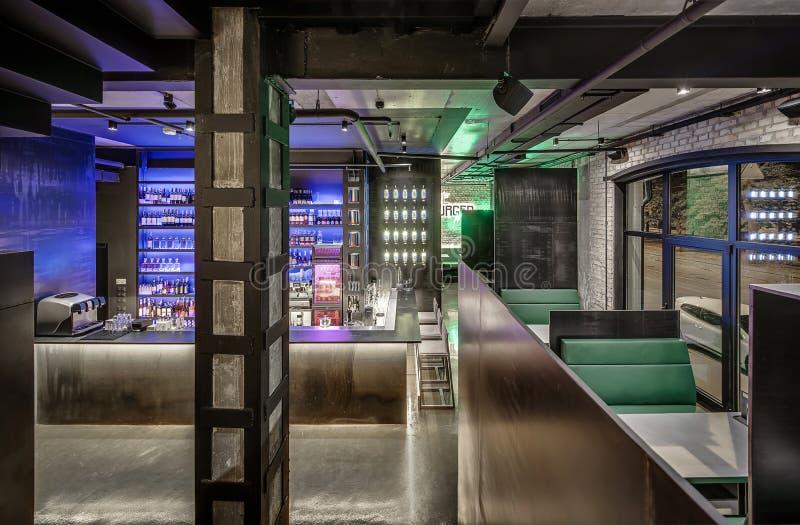 Restaurante en estilo del desván foto de archivo libre de regalías