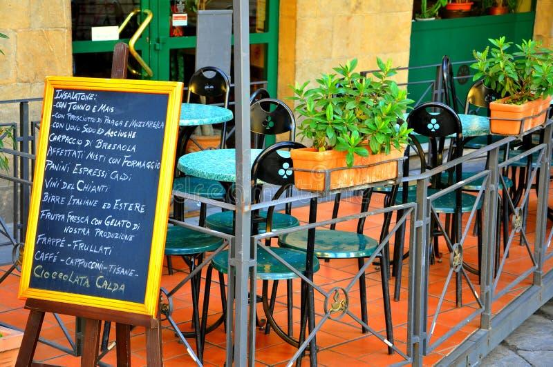 Restaurante en Italia fotos de archivo