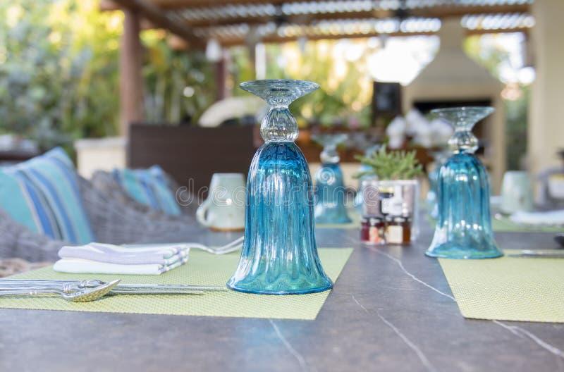 Restaurante exterior em México Tabela de convite imagem de stock royalty free