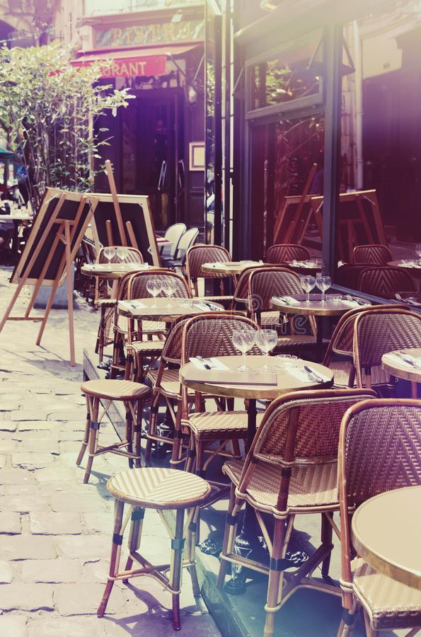 Restaurante franc?s fotografia de stock