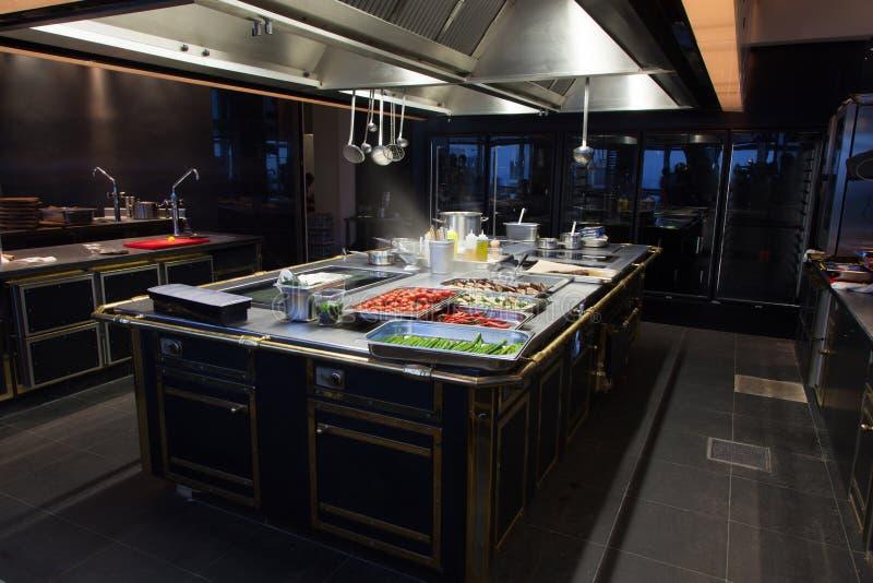 Restaurante hermoso de la cocina foto de archivo