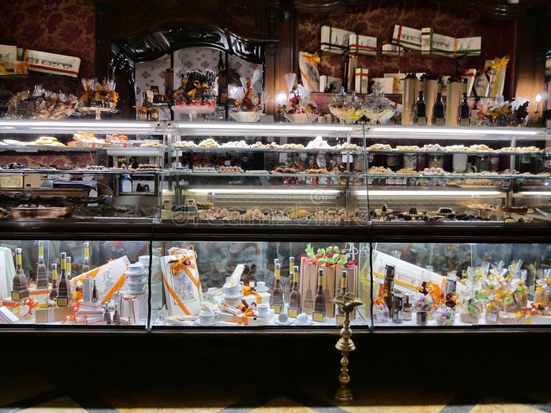 Restaurante histórico Caffe Torino da barra imagem de stock royalty free