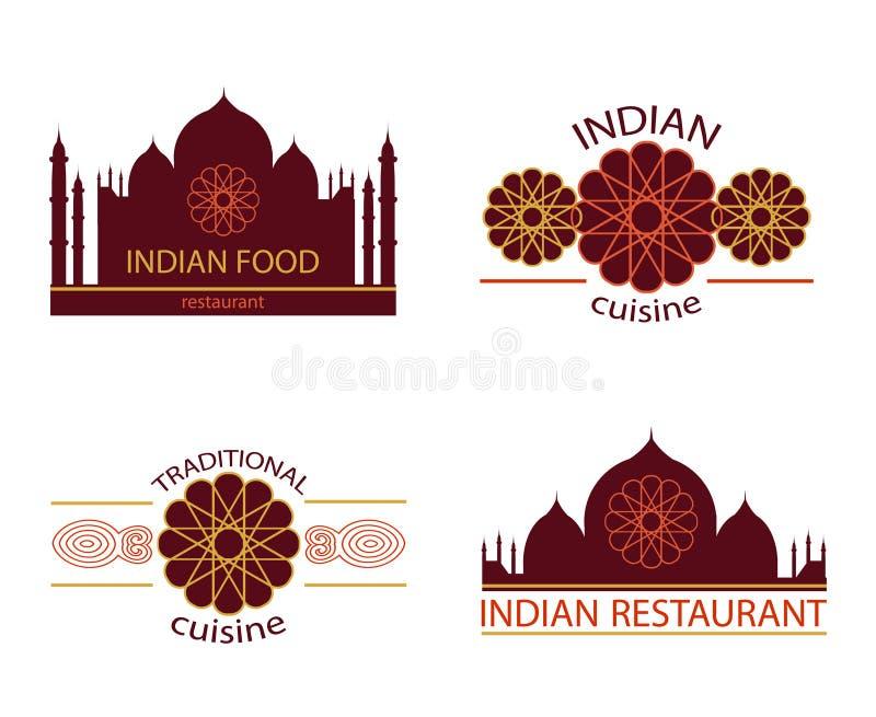 Restaurante indiano do alimento ilustração do vetor