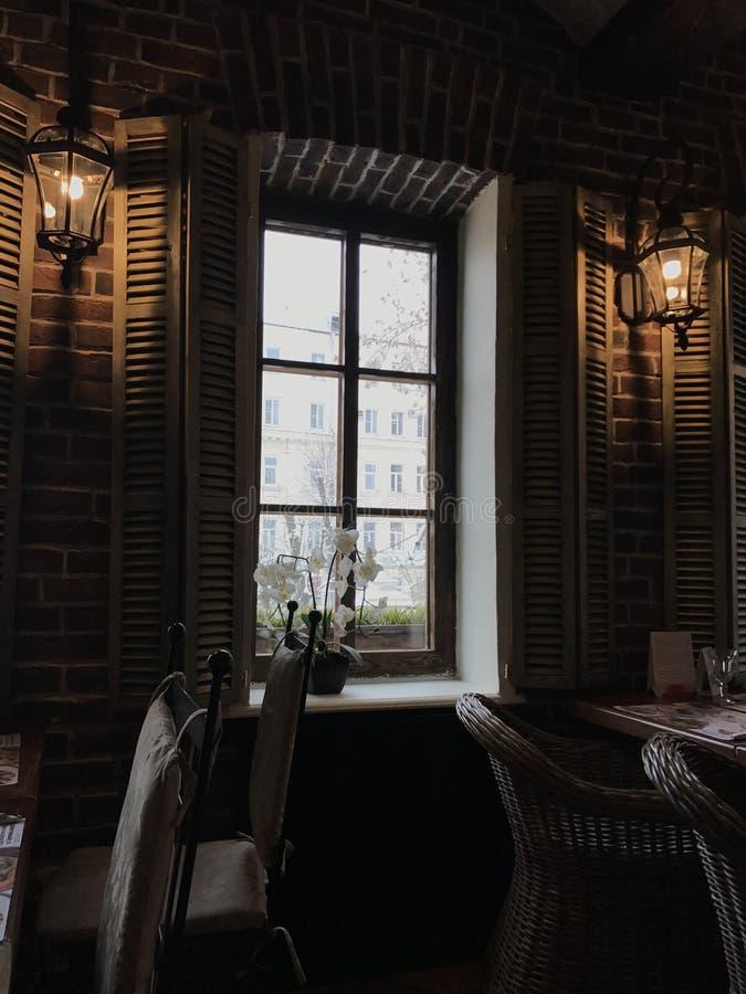 Restaurante interior imagem de stock