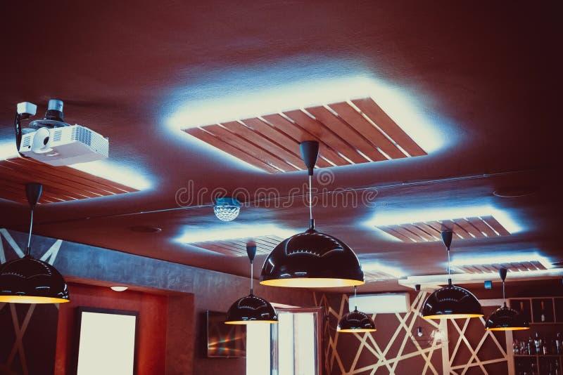 Restaurante interior hermoso fotos de archivo