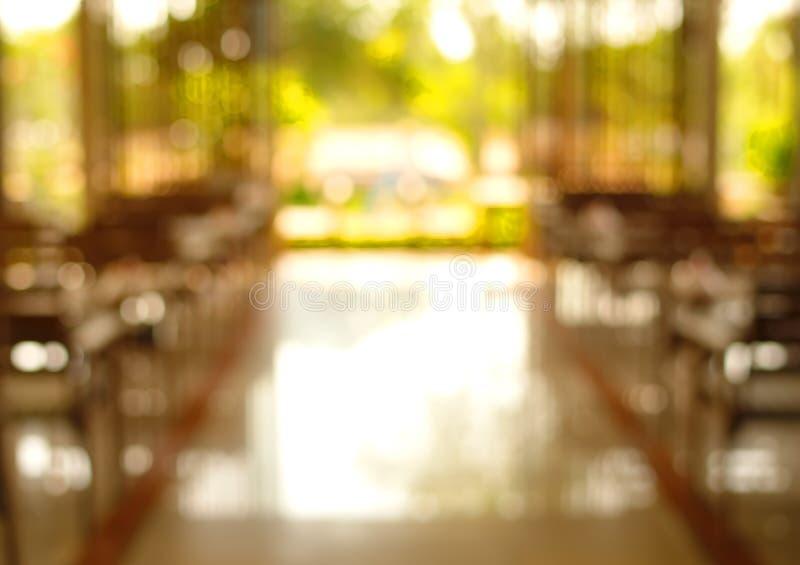 Restaurante interior verde do borrão imagem de stock