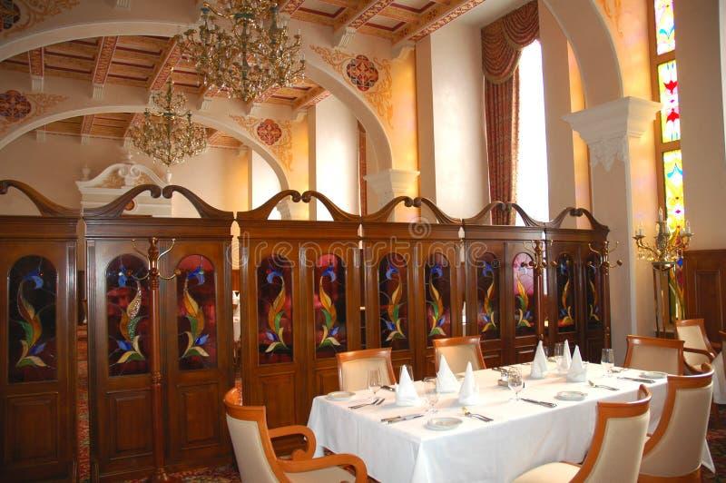 Restaurante interno imagem de stock