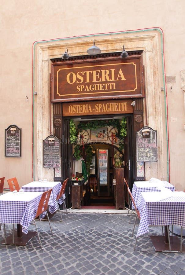 Restaurante italiano imagem de stock royalty free