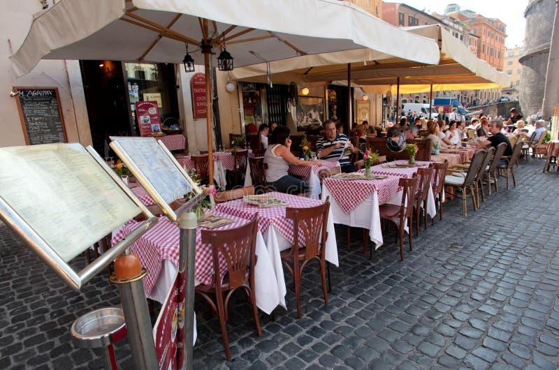 Restaurante italiano imagens de stock