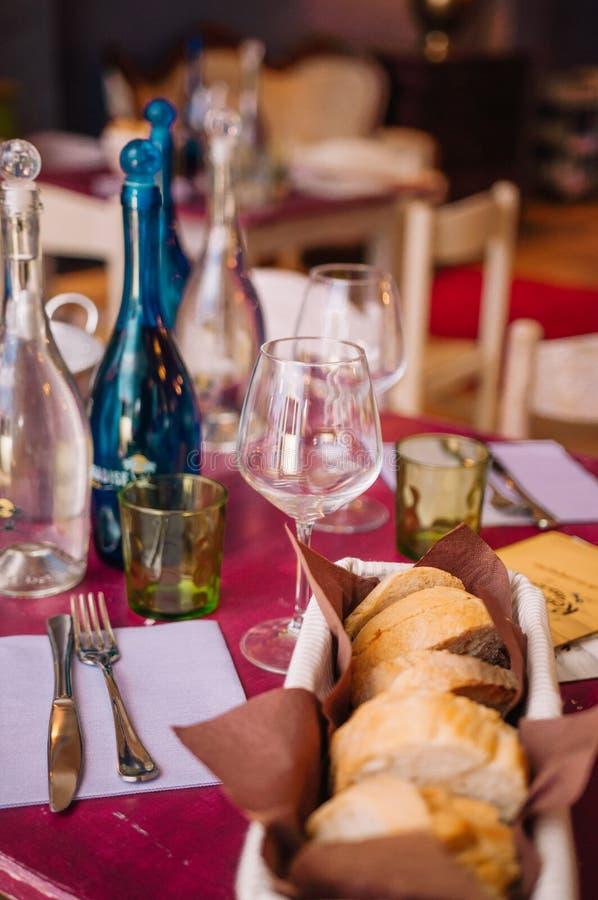 Restaurante italiano colorido e delicioso saboroso do bufete imagens de stock