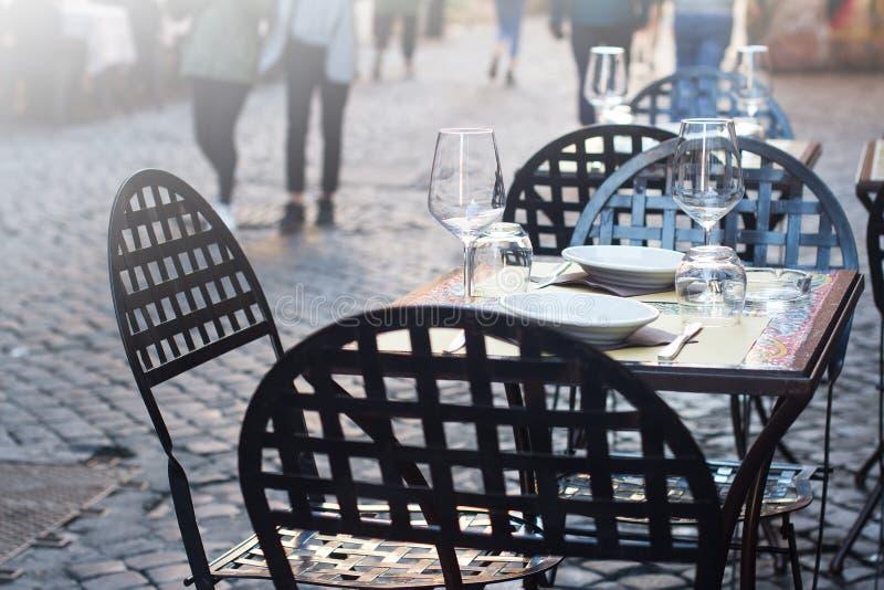 Restaurante italiano tradicional da rua fotos de stock royalty free