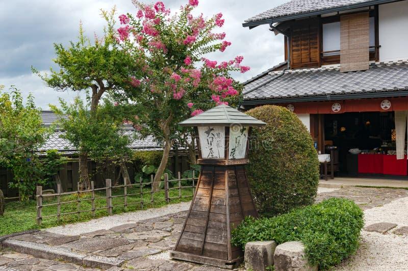 Restaurante japonés exterior en Magome, valle de Kiso foto de archivo
