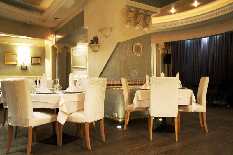 Restaurante luxuoso foto de stock