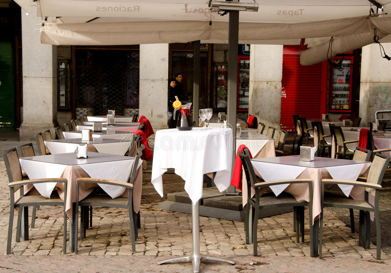 Restaurante, Madri, Espanha imagem de stock royalty free
