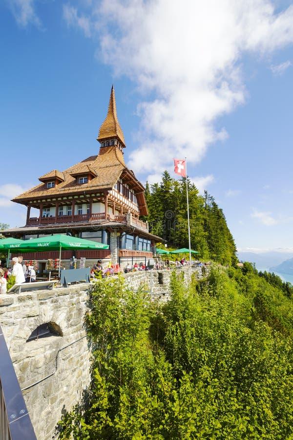 Restaurante mais duro do panorama de Kulm foto de stock