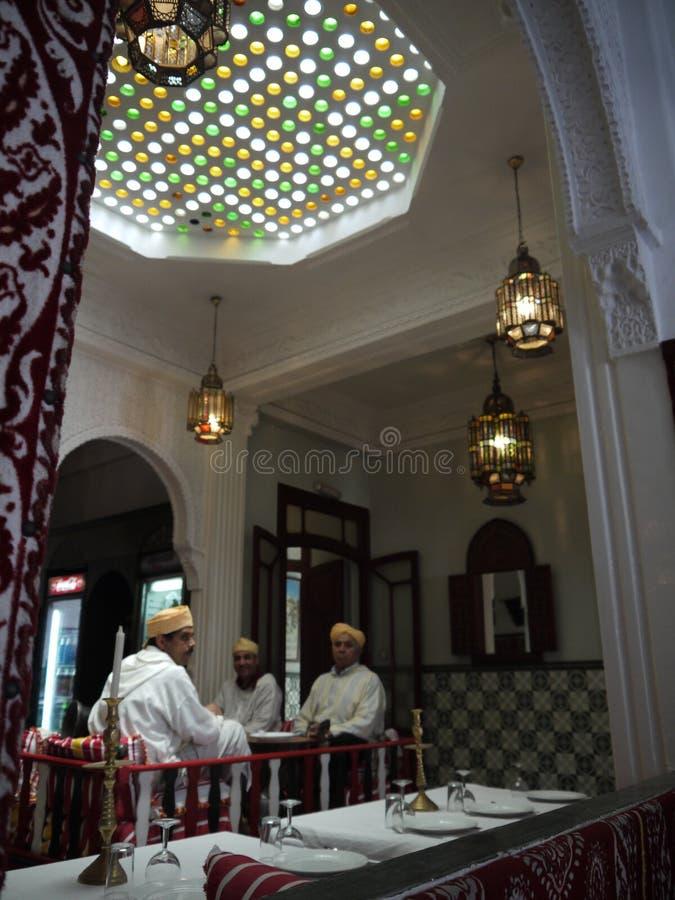 Restaurante marroquino imagens de stock