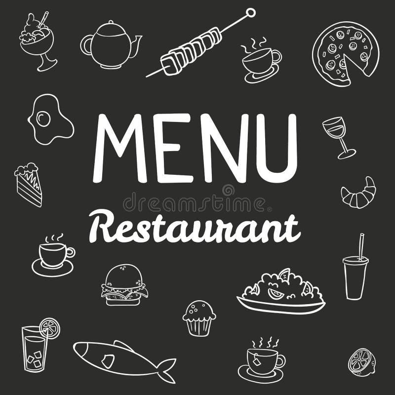 Restaurante moderno del menú stock de ilustración