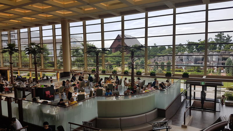 Restaurante na baía grandioso de tokyo do sheraton imagens de stock