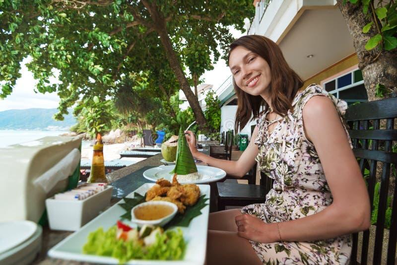 Restaurante na praia fotografia de stock royalty free