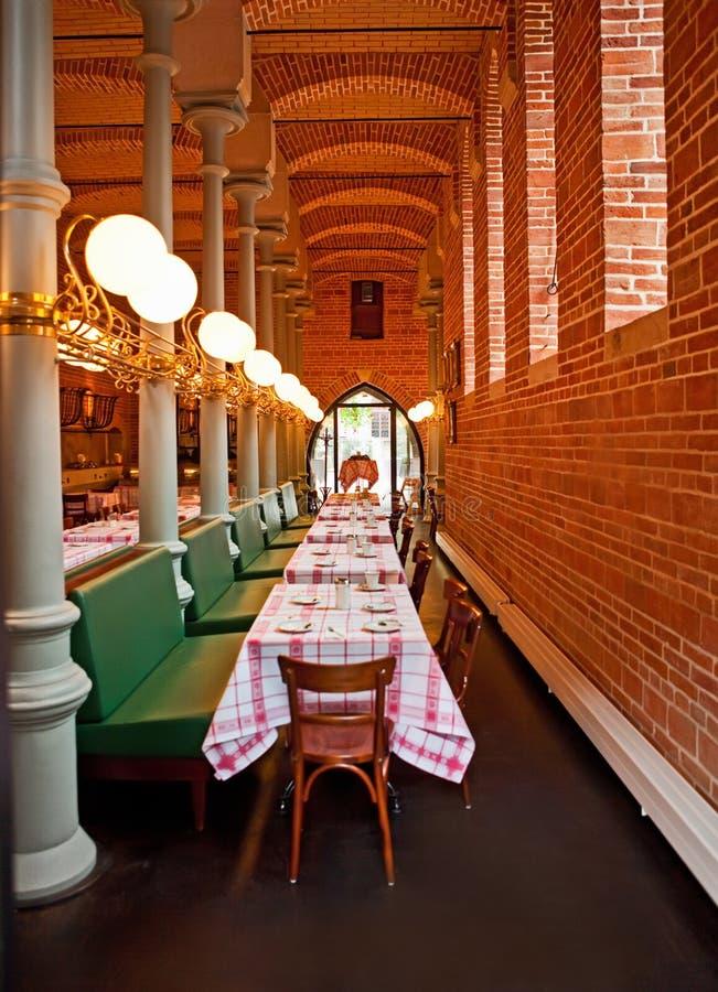 Restaurante no castelo de Marienburg fotografia de stock