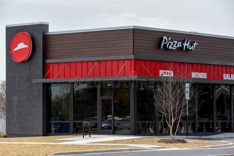 Restaurante novo de Pizza Hut foto de stock
