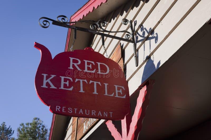 Restaurante rojo de la caldera fotos de archivo