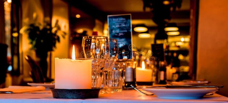 Restaurante romântico fotografia de stock