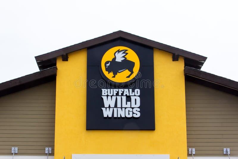 Restaurante salvaje de las alas del búfalo fotos de archivo